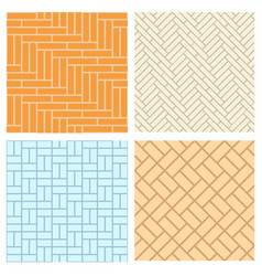 Seamless brick pattern for floor and wal vector