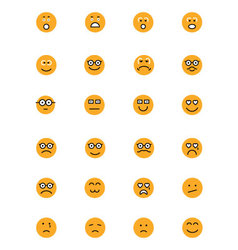 Smiley Colored Icons 3 vector