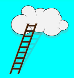 Stairway to the cloud vector image