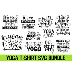 stressed blessed yoga obsessed greeting card p vector image