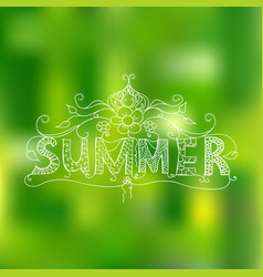 summer floral ornament vector image