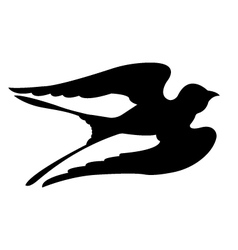 Swallow Birds Silhouettes vector