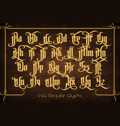 the pontifice - vintage gothic label font vector image