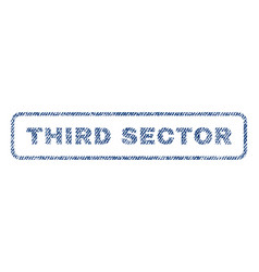 Third sector textile stamp vector