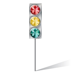 traffic light with precious stones vector image