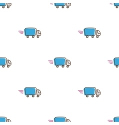 Truck icons seamless pattern Funny express vector