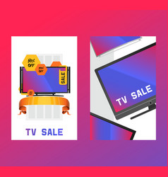 tv old tv-broadcast madern television vector image