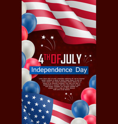 Usa independence day celebration flyer vector