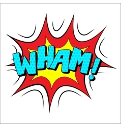 Wham sound effect vector