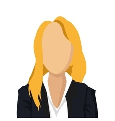woman character with suit icon vector image