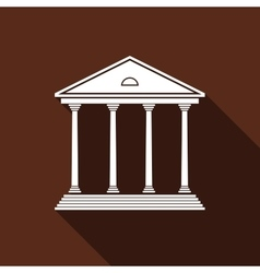 Courthouse icon with long shadow vector image