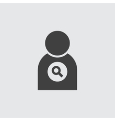 Search user icon vector image vector image