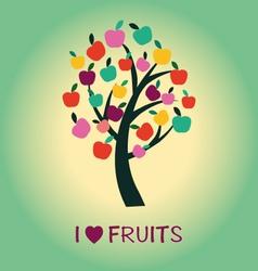 fruit tree Apple Tree symbol vector image