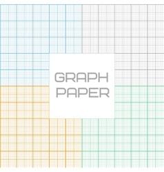 graph millimeter paper seamless pattern set vector image