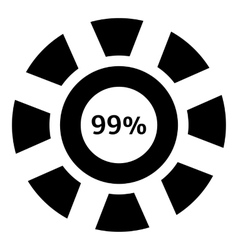 Ninety nine percent download icon simple style vector