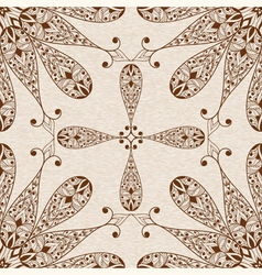 Seamless Abstract Ethnic Floral Patten vector image vector image