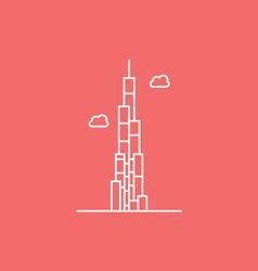 The Burj Khalifa vector image
