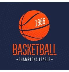 Basketball vector image
