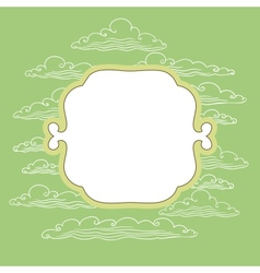 Frame with background vector image vector image