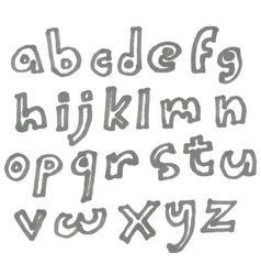 lower case marker alphabet vector image vector image