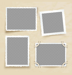 Old victorian image frames vintage photo borders vector