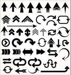 set of arrow shapes isolated on white vector image