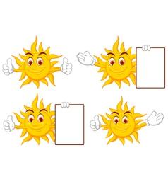 sun cartoon collection vector image