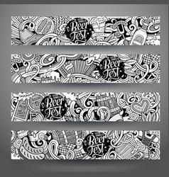 cartoon hand drawn doodles octoberfest vector image