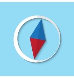 compass web icon vector image vector image
