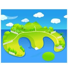 Green island vector image