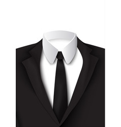 realistic black suit object vector image vector image