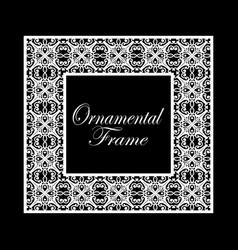 vintage ornamental frame luxury elegant ornament vector image