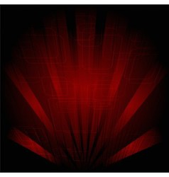 Abstract technology dark red background with rays vector