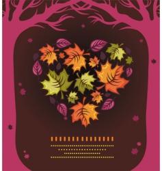 Autumn heart vector