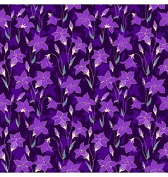 Beautiful wild bluebell flowers seamless pattern 4 vector image