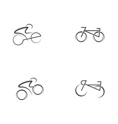 bike logo icon design template vector image