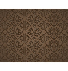 Brown Seamless Floral Background vector