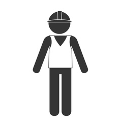 builder construction worker icon graphic vector image