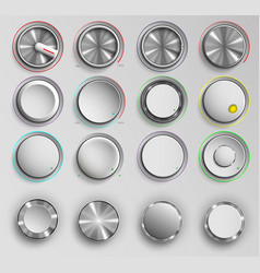 buttons reality volume control vector image