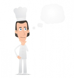 chef visited idea vector image