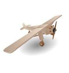 Child wooden airplane vector