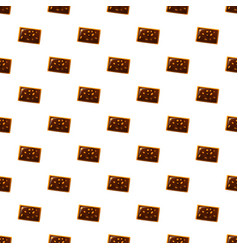 Chocolate nut biscuit pattern seamless vector