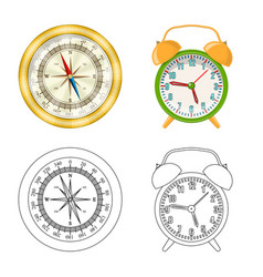 clock and time logo vector image