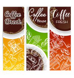 coffee banners vector image