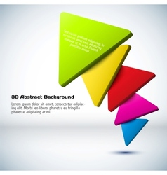 Colorful 3D triangle background vector image
