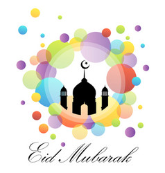 colorful eid card vector image