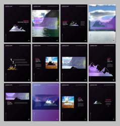 creative brochure templates covers design vector image
