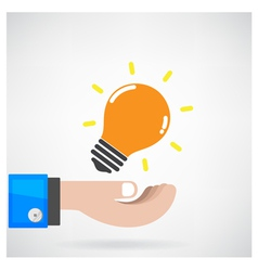 Creative light bulb Idea concept with businessman vector image