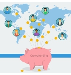 Crowdfunding concept web banner vector image