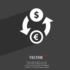 Currency exchange icon symbol Flat modern web vector image